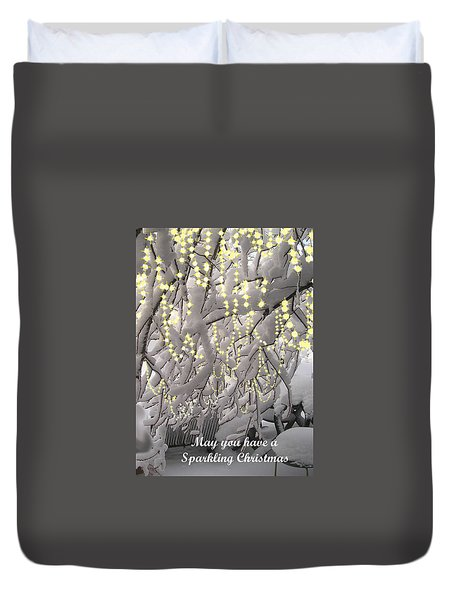 Sparkling Christmas Card Duvet Cover