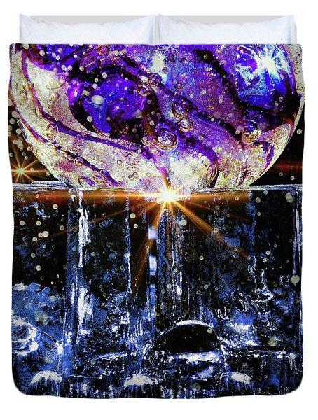 Sparkling Glass Duvet Cover