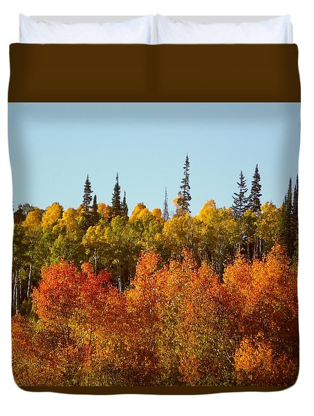 Duvet Cover featuring the photograph Sparkling Leaves Dixie National Forest Utah by Deborah Moen