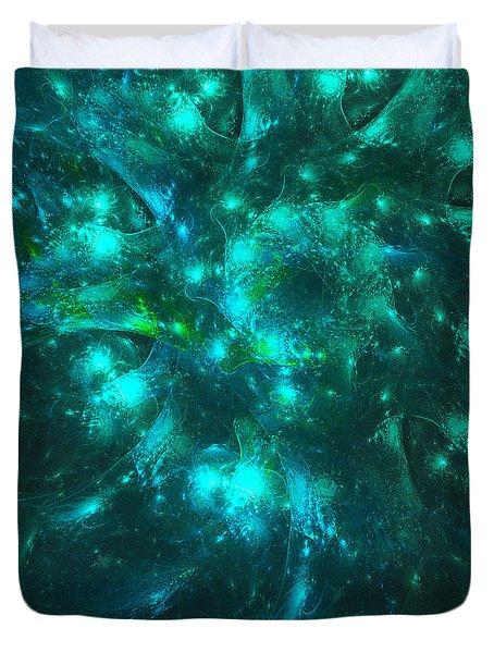 Sparkling Moss Duvet Cover