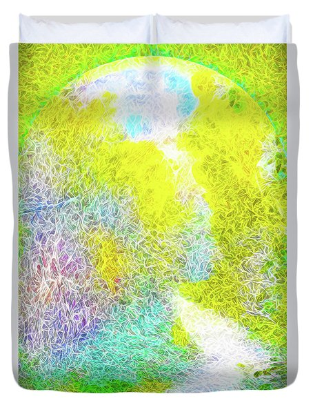 Duvet Cover featuring the digital art Sparkling Pathway - Trail In Santa Monica Mountains by Joel Bruce Wallach