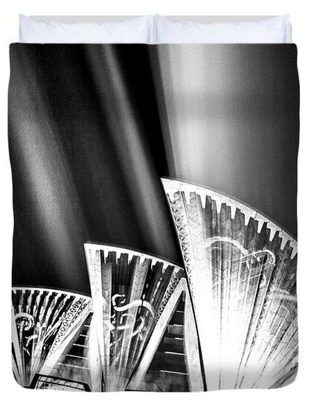 Sparkling Blades Bw Duvet Cover