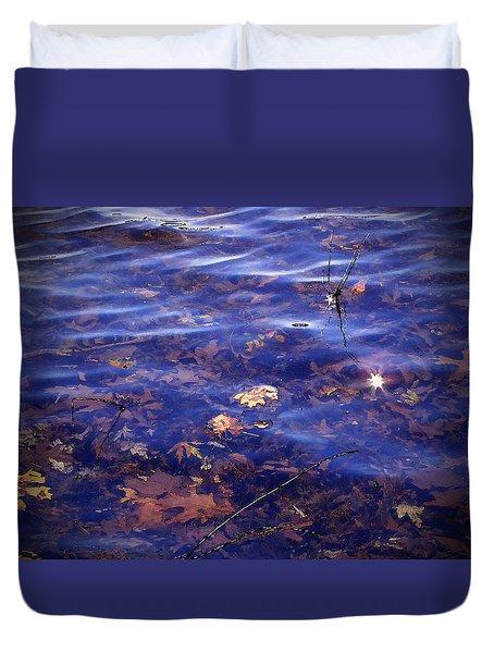 Sparkling Shore Duvet Cover by Cedric Hampton