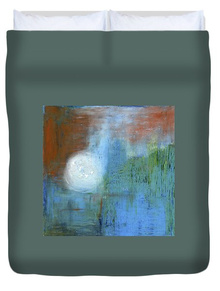 Duvet Cover featuring the painting Sparkling Sun-rays by Michal Mitak Mahgerefteh