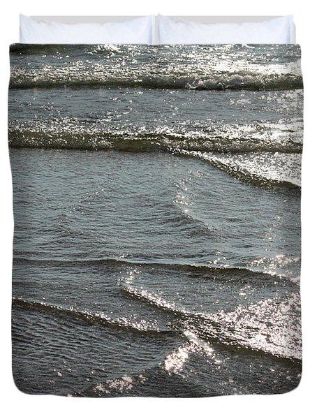 Sparkling Sunshine On Gentle Surf Duvet Cover by Carol Groenen