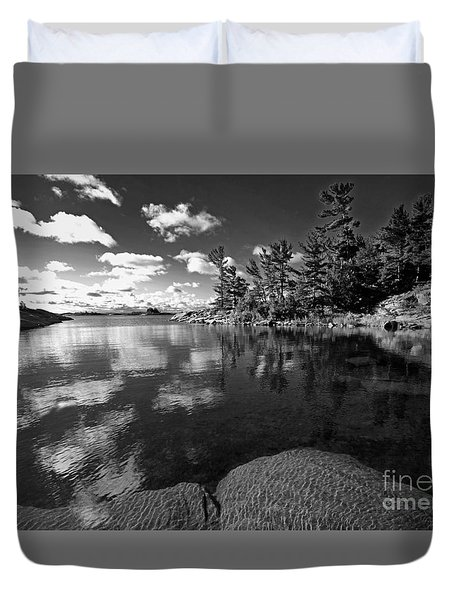 Duvet Cover featuring the photograph Clouds In Georgian Bay by Charline Xia