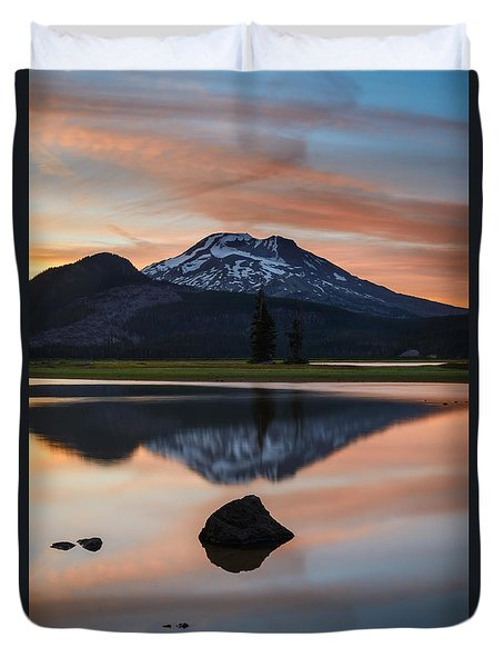 Sparks Lake At Sunset Duvet Cover