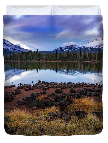 Duvet Cover featuring the photograph Sparks Lake by Cat Connor