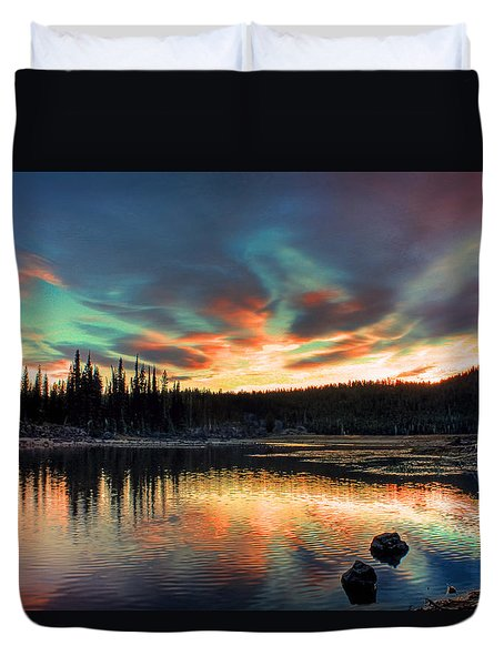 Sparks Lake Hues Duvet Cover