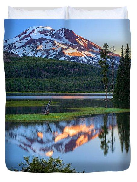 Sparks Lake Sunrise Duvet Cover