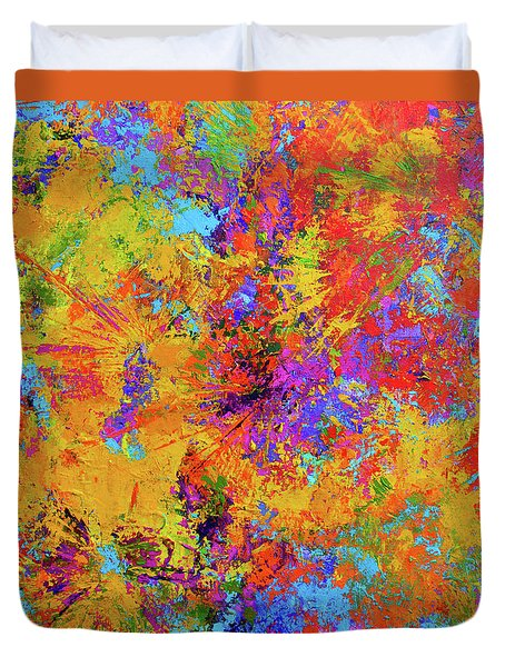 Sparks Of Consciousness Modern Abstract Painting Duvet Cover