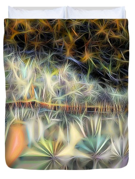 Duvet Cover featuring the digital art Sparks by Ron Bissett