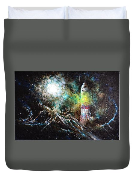 Sparks - The Storm At The Start Duvet Cover by Sandro Ramani