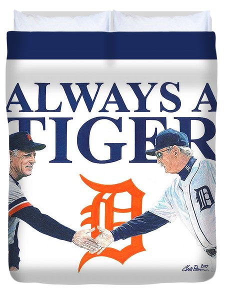Sparky Anderson And Jim Leyland Duvet Cover