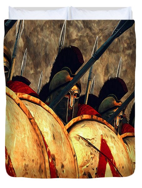 Spartan Army - Wall Of Spears Duvet Cover