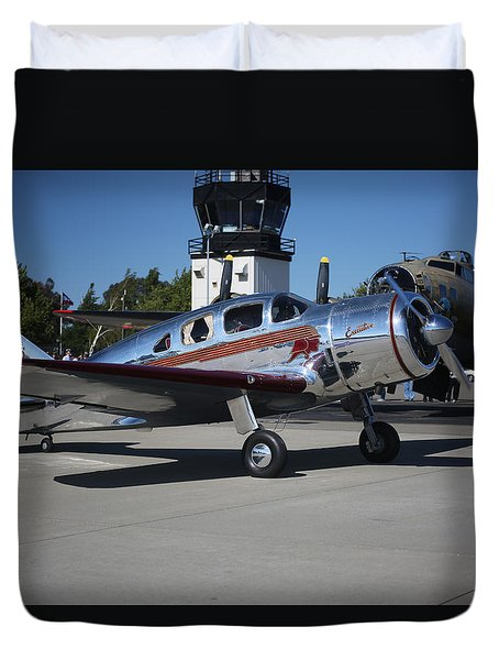 Duvet Cover featuring the photograph Spartan Executive With B17 Flying Fortress Memorial Day Weekend 2015 by John King