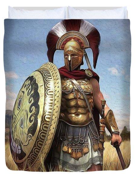 Spartan Hoplite - 02 Duvet Cover