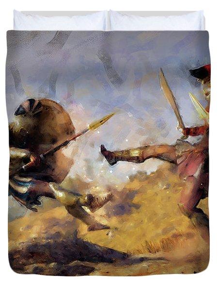 Spartan Hoplite - 12 Duvet Cover