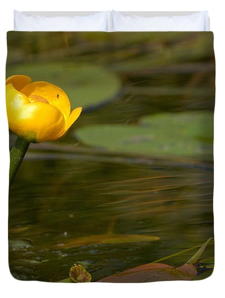 Duvet Cover featuring the photograph Spatterdock by Jouko Lehto