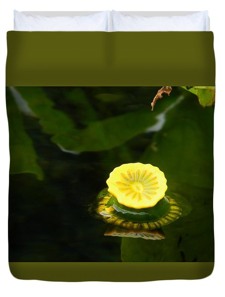 Spatterdock Reflections Duvet Cover
