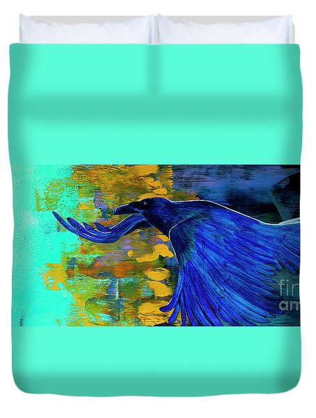 Speak To Me Of Magic Duvet Cover by Tracy L Teeter