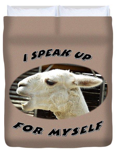 Speak Up Duvet Cover