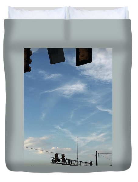 Special Day-hand From Heaven  Duvet Cover