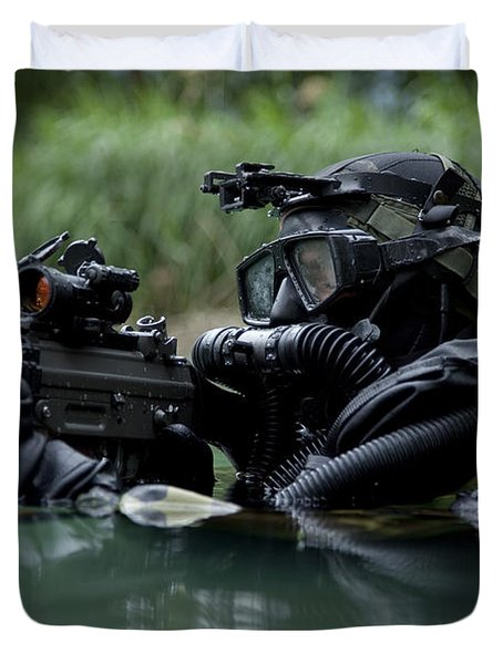 Special Forces Combat Diver Takes Duvet Cover by Tom Weber