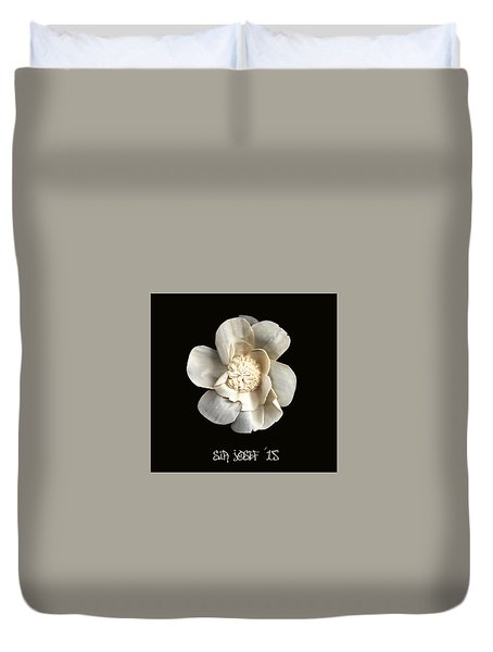 Special Magic Flower - For A Special Lady Duvet Cover by Sir Josef - Social Critic -  Maha Art