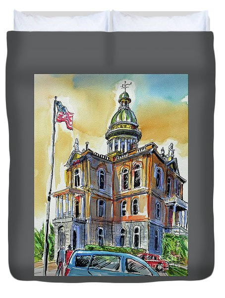 Spectacular Courthouse Duvet Cover by Terry Banderas