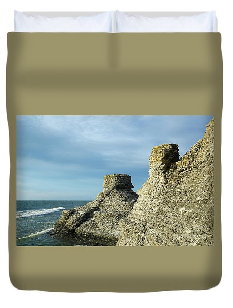 Spectacular Eroded Cliffs  Duvet Cover