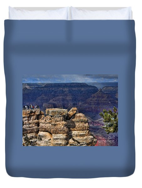 Duvet Cover featuring the photograph Spectacular Grand Canyon by Roberta Byram