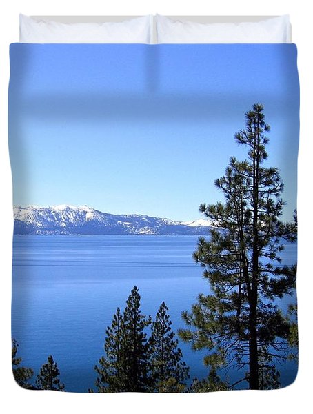 Spectacular Lake Tahoe Duvet Cover