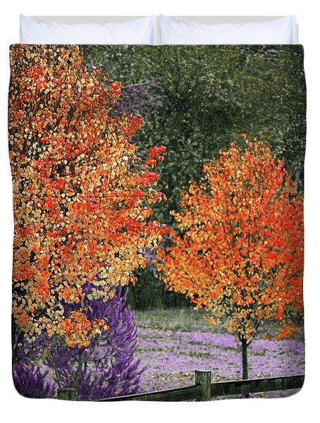 Spectral Autumn Duvet Cover
