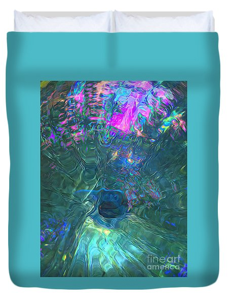 Spectral Sphere Duvet Cover by Todd Breitling