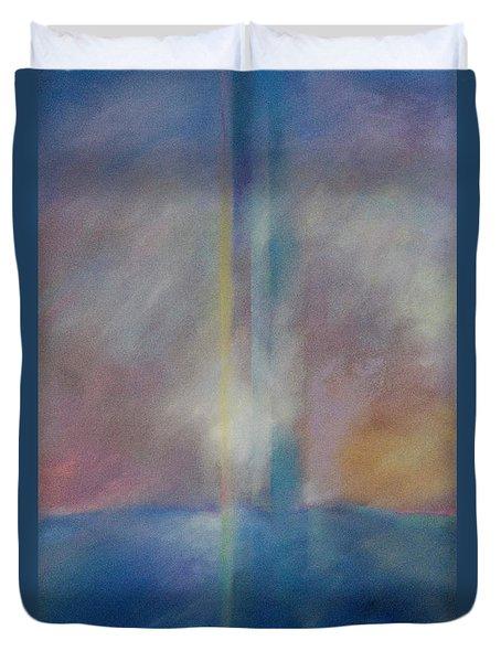 Spectral Sunrise Duvet Cover