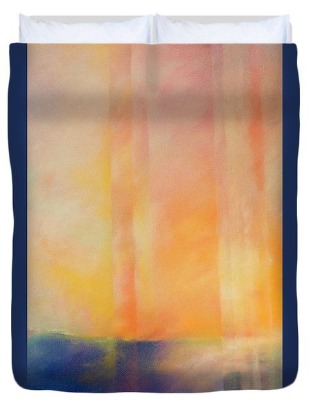 Spectral Sunset Duvet Cover