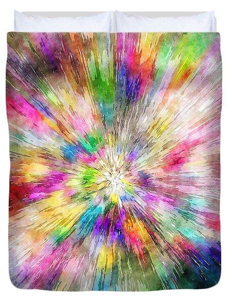 Spectral Tie Dye Starburst Duvet Cover