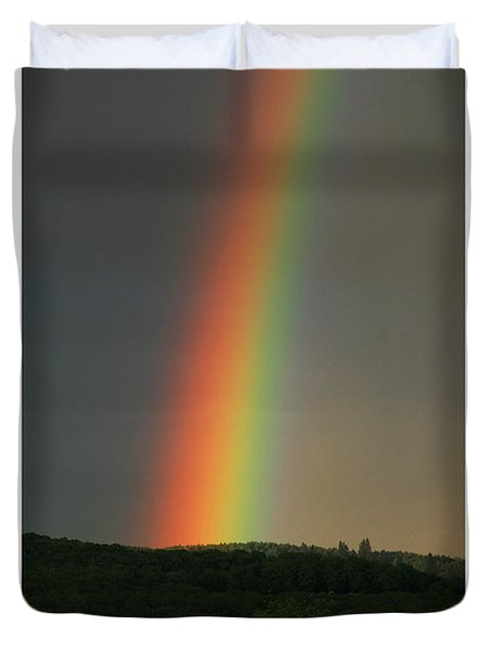 Duvet Cover featuring the digital art Spectrum by Julian Perry