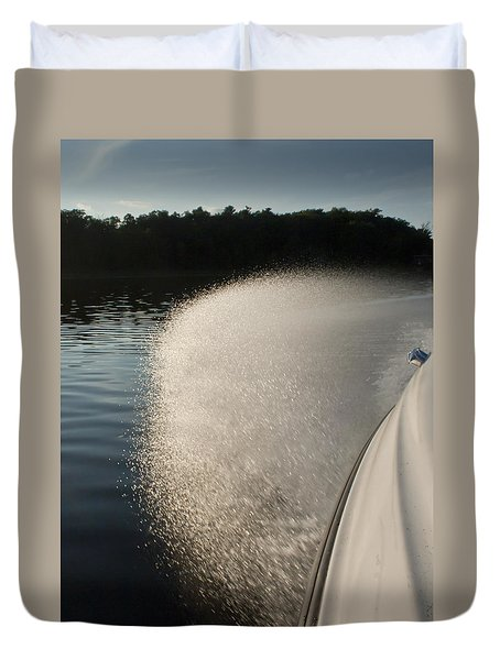Speed Boat Duvet Cover