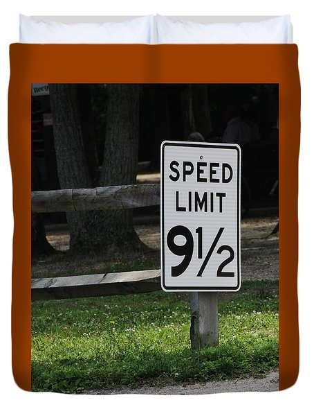 Speed Limit Duvet Cover by Vadim Levin