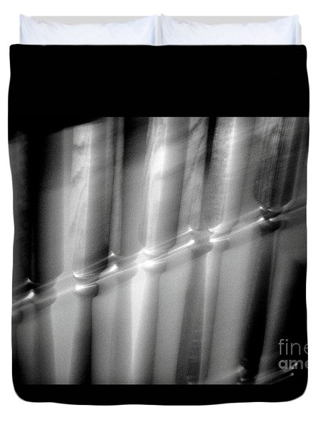 Duvet Cover featuring the photograph Speeding Train by Steven Macanka