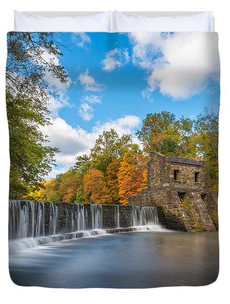 Speedwell Dam Fall Foliage Duvet Cover