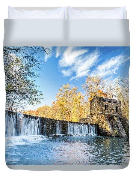 Speedwell Dam Waterfall Duvet Cover