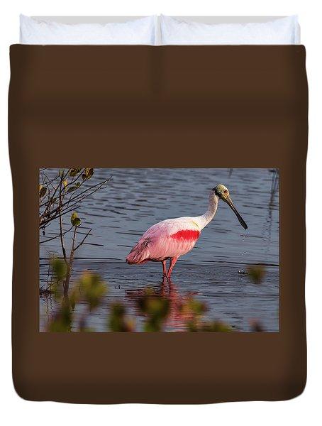 Spoonbill Fishing Duvet Cover