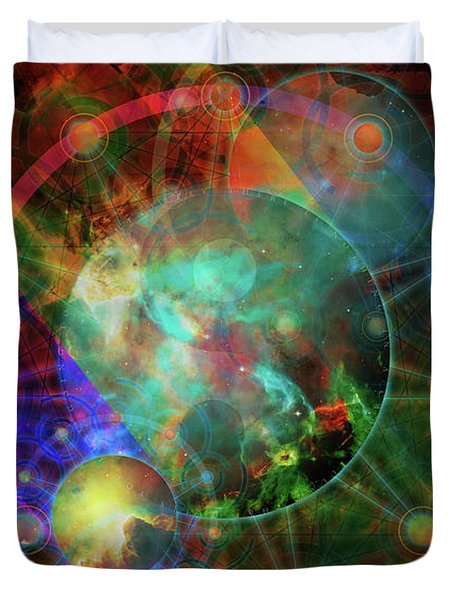 Sphere Of The Unknown Duvet Cover