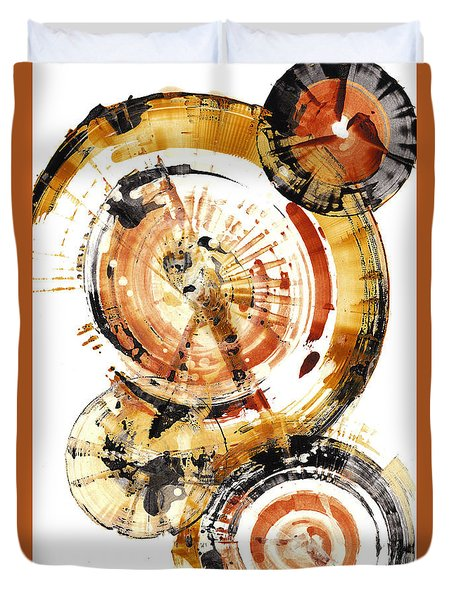 Duvet Cover featuring the painting Sphere Series 1020.050112 by Kris Haas