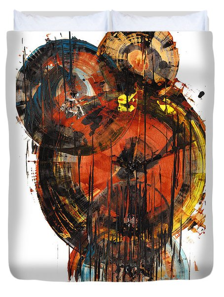 Duvet Cover featuring the painting Sphere Series 1023.050312 by Kris Haas