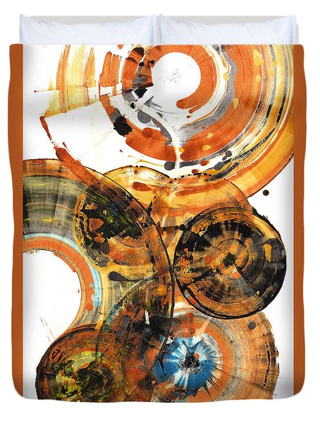 Duvet Cover featuring the painting Sphere Series 1024.050312 by Kris Haas