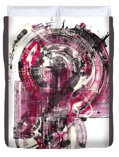 Duvet Cover featuring the painting Sphere Series 1026.050412 by Kris Haas